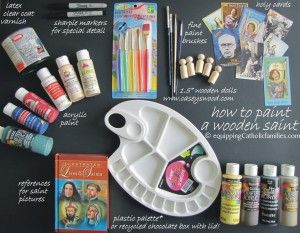 Wooden Painted Saint: Proper Tutorial | Arma Dei Equipping Catholic Families