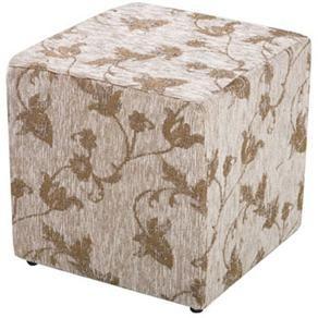 Puff American Comfort em Tecido Florido - Bege - Puffs no Pontofrio.com
