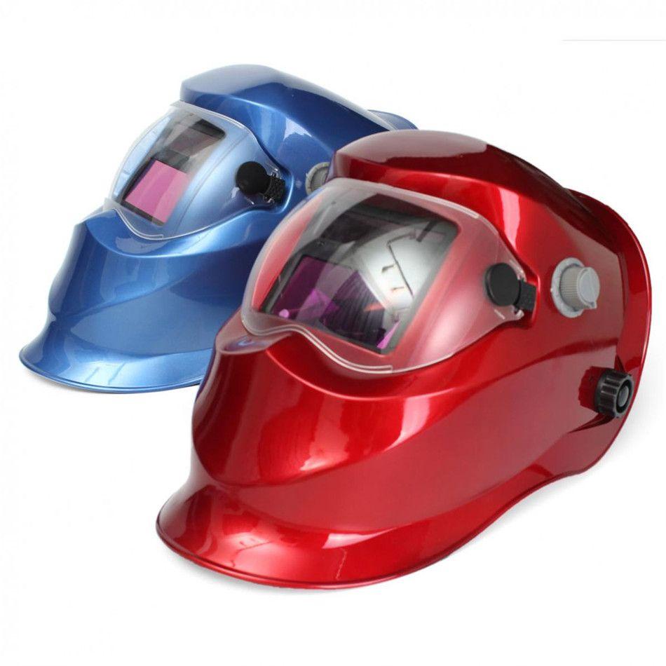 Resistance Blue/Red Solar Auto Darkening Mask Helmet Electrowelding Welding TIG MIG Welder