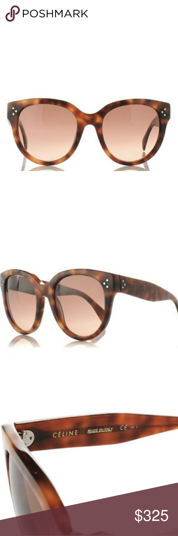 1a68293ad4 Céline Audrey Havana Brown Style  CL41755. Round Cat Eye frame.  Tortoiseshell Hardware with Rose Brown lens. Perfectly new condition.
