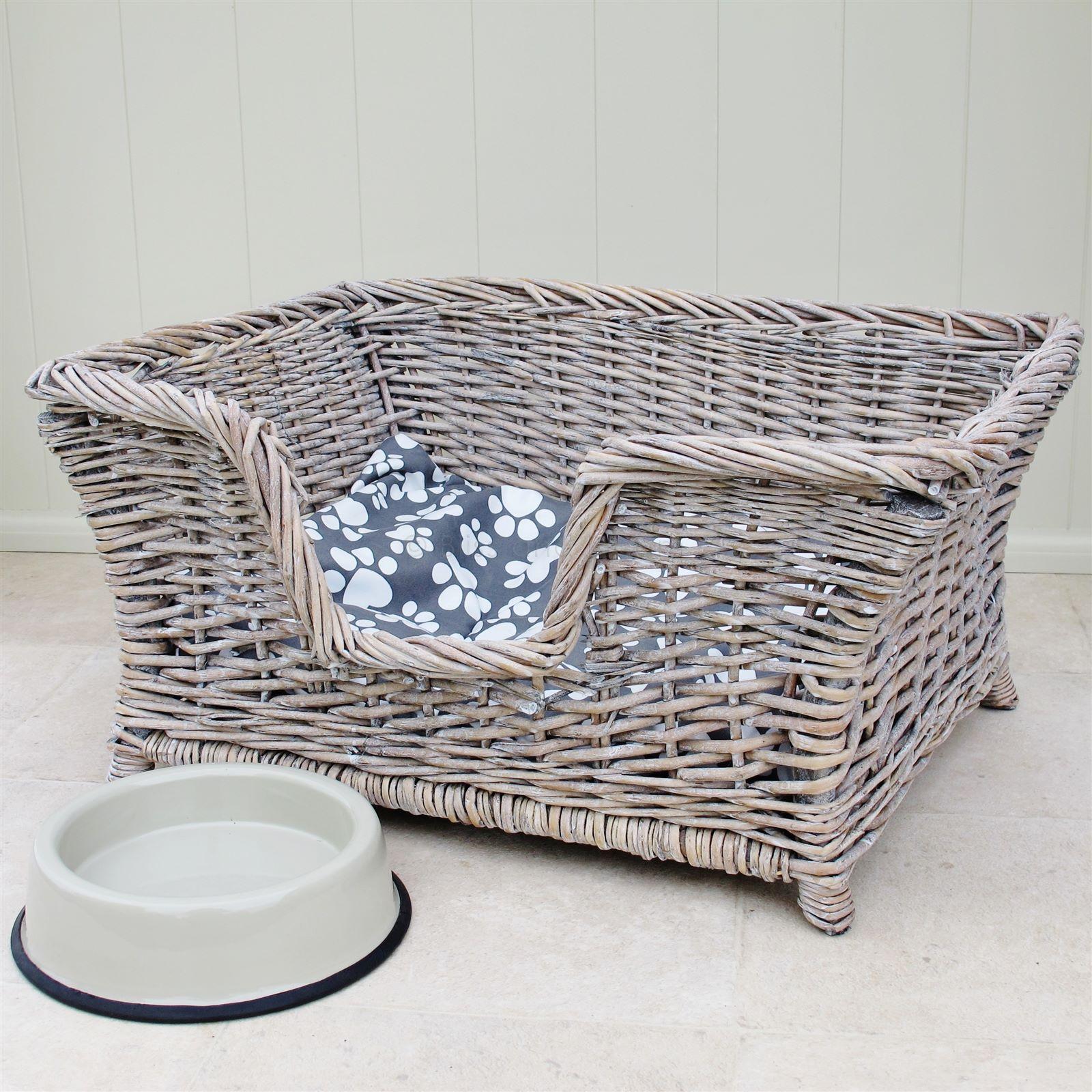 Wicker Dog Bed Basket Bliss and Bloom Ltd Домики