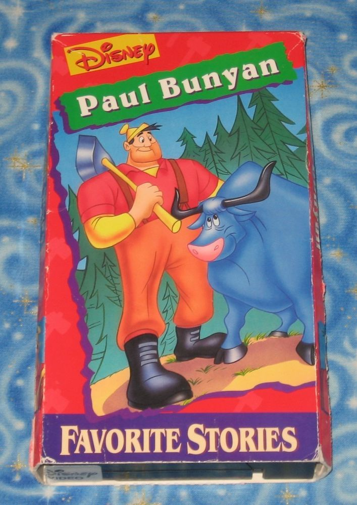 Disney Paul Bunyan Favorite Stories VHS Video Tape with Cover ...