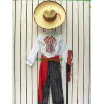 e37bcfe5f13ca Disfraz Revolucon Mex Pantalon Rayado Sombreros Camisas Niño ...