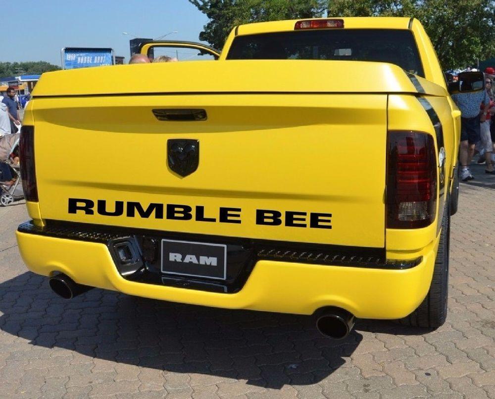 dodge rumble bee rear decal ebay motors parts. Black Bedroom Furniture Sets. Home Design Ideas