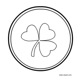 Free Black And White Coin Clip Art For Saint Patrick S Day Clip Art St Patricks Day Hat Free Clip Art