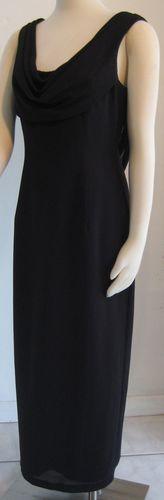 """""""DATIANI"""" CLASSIC LONG BLACK DRESS SWOOP BACK"""