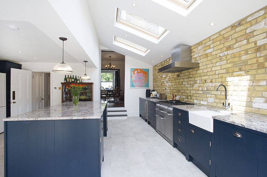 galley kitchen extension ideas peckham rye se15 side return extension on a 3700