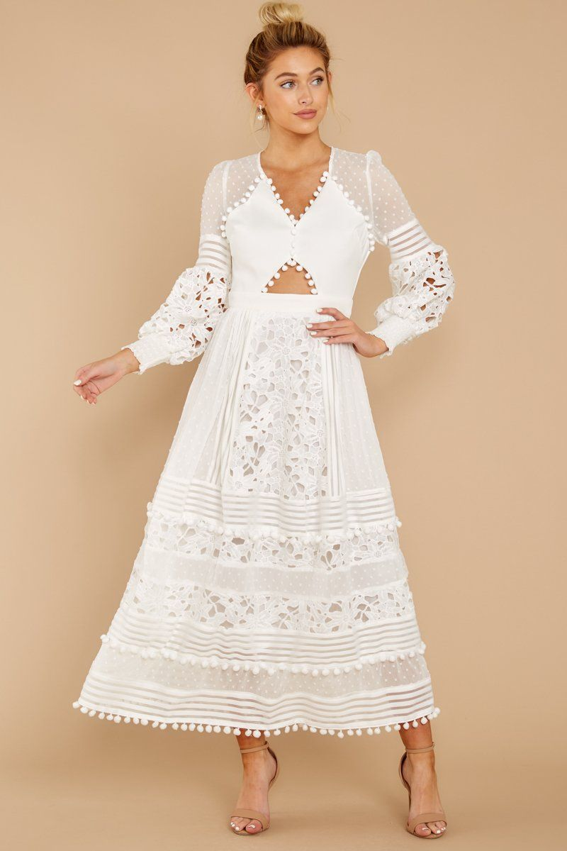 All For Hope White Lace Maxi Dress | White lace maxi, Long sleeve ...