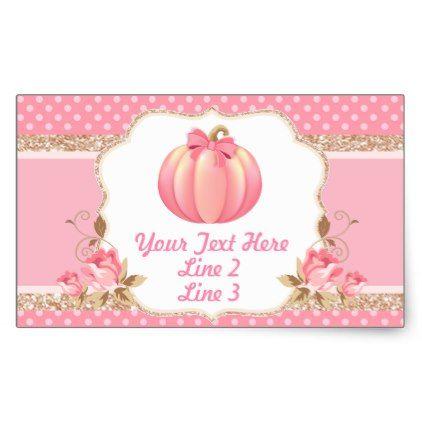 Pumpkin Label Sticker - baby shower ideas party babies newborn gifts