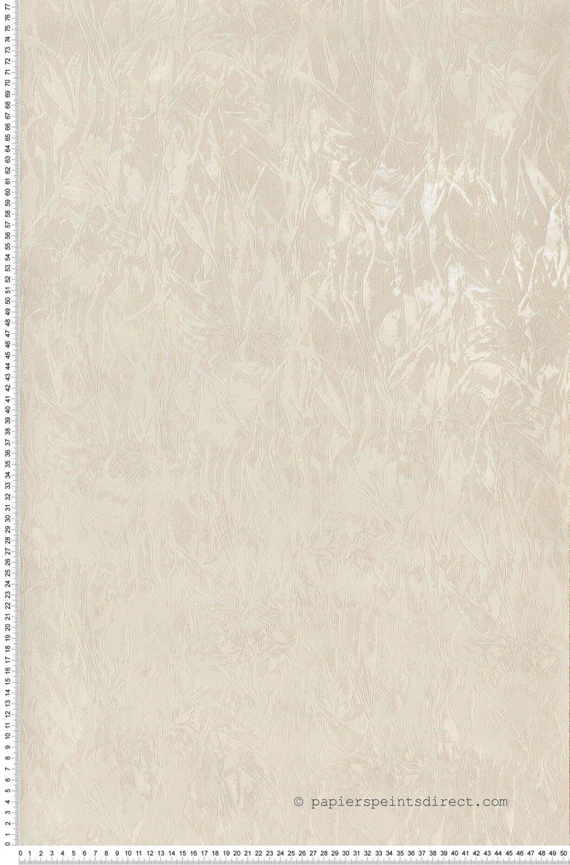 Papier froissé irisé blanc - Papier peint Florentina de Montecolino ...