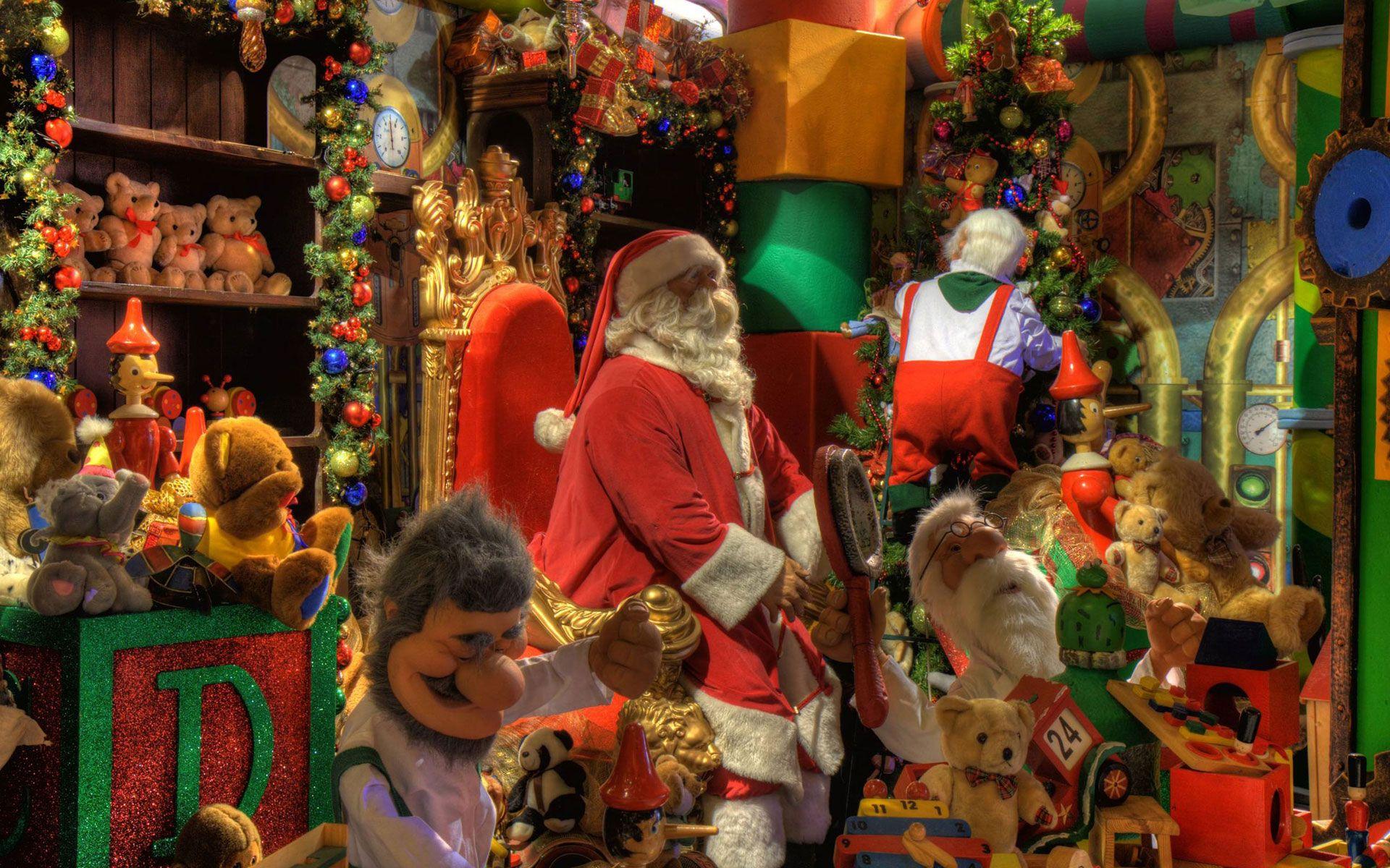 Santa s Workshop Christmas Santa Claus Pinterest