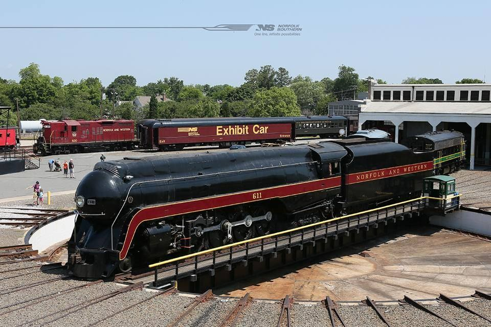 Class J 611 takes a spin on the turntable at Spencer, N