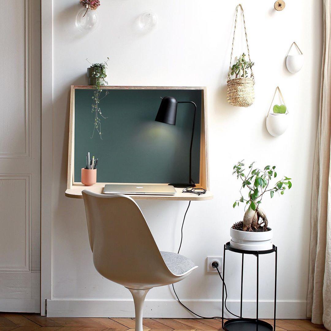 Unique Mobilier On Instagram Rendez Vous Sur La Page De Agence Lanoe Marion Pour Tenter De Gagner Le Bureau Mural Sacha D In 2020 Wall Mounted Desk Home Home Office