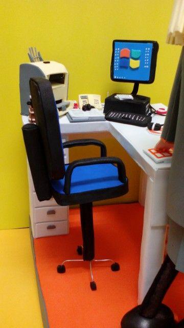 Mesa silla oficina goma eva fofuanika | fofus accesorios | Pinterest ...