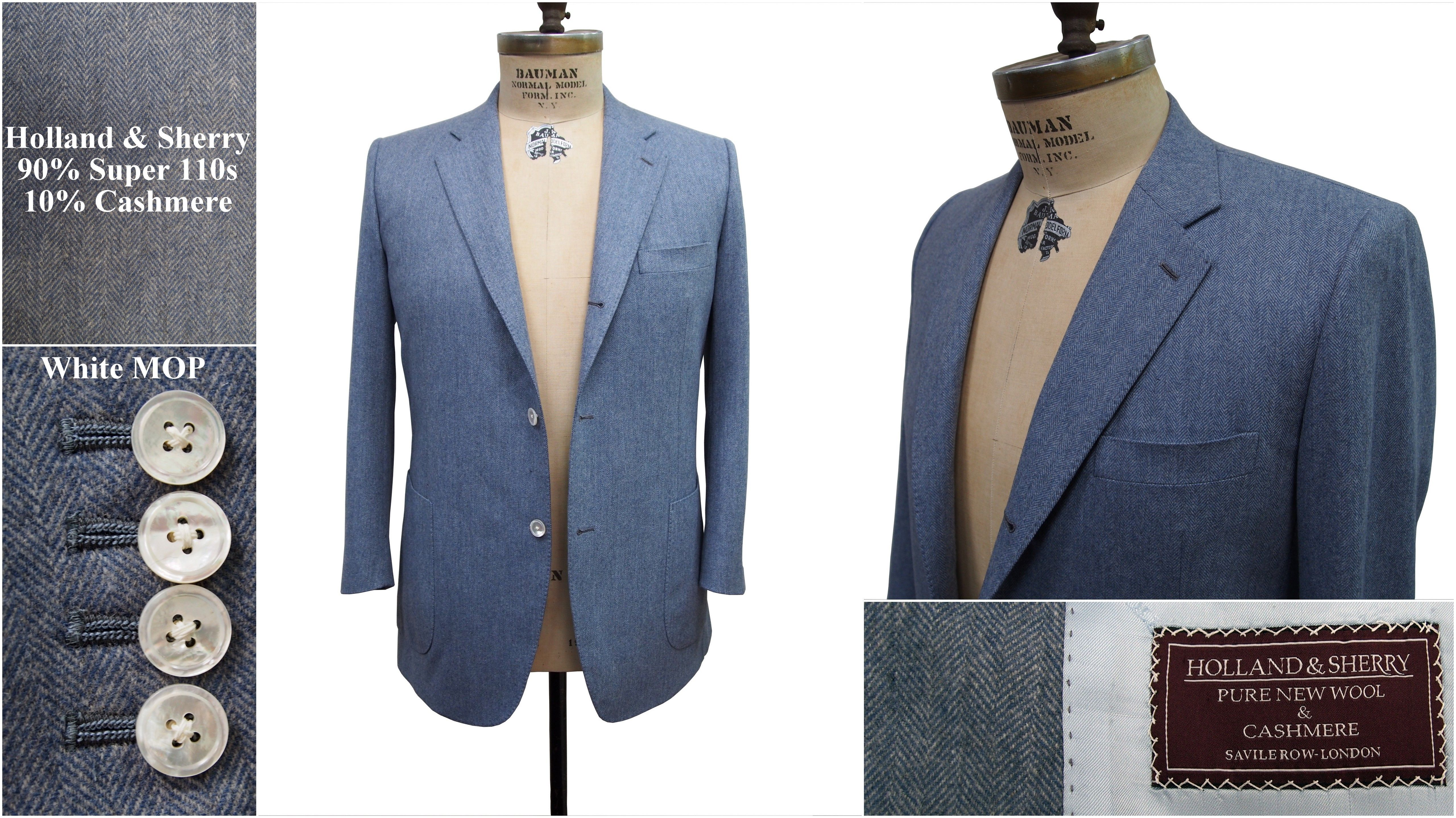 Carolina blue cashmere sport coat with patch pockets and white ...
