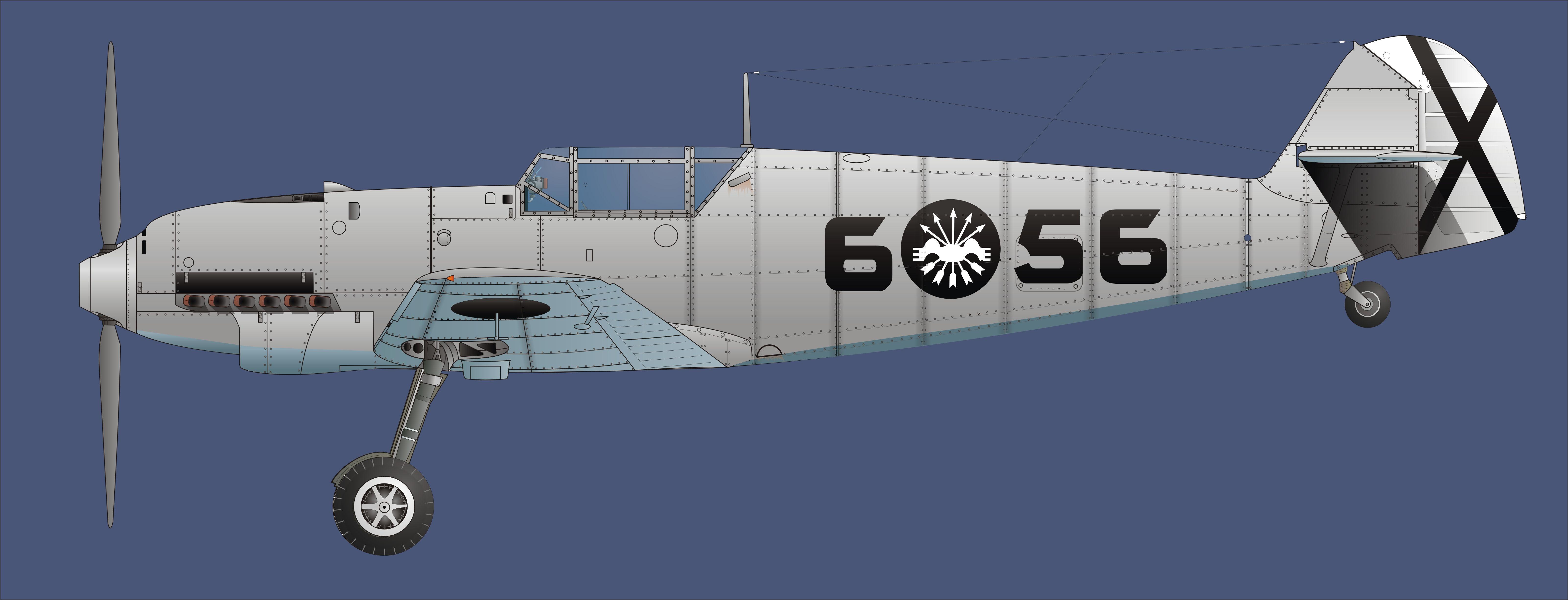 Aviacion de La legion Condor con emblema Falangista