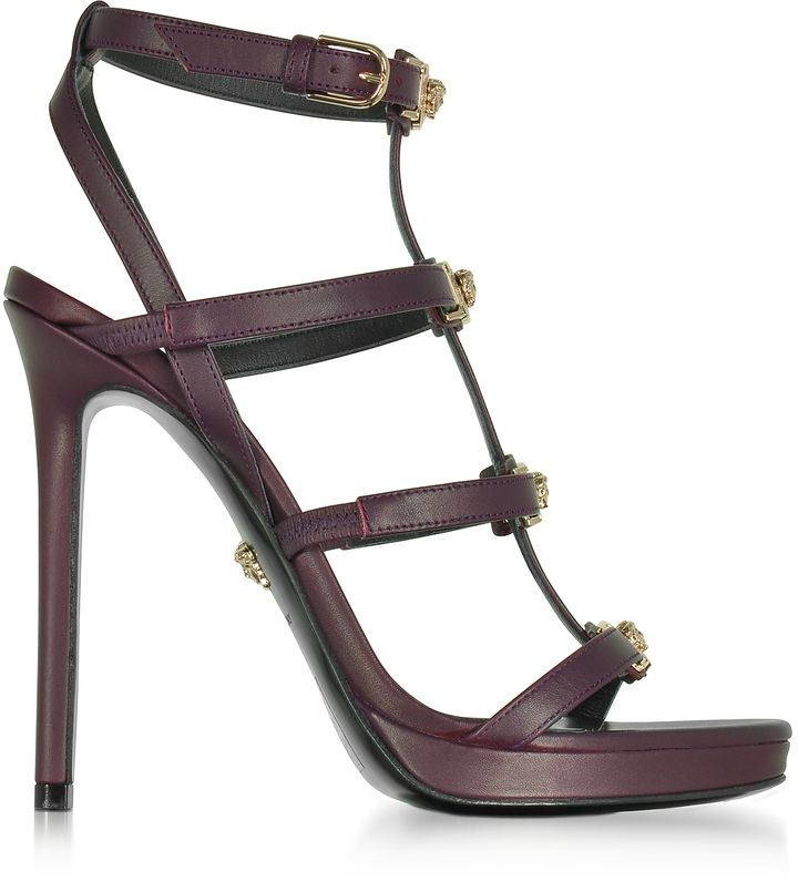 Versace Leather Caged Sandals free shipping clearance buy cheap exclusive Rk4KolZ