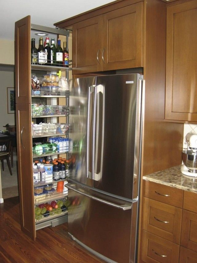 Show me your fridge surrounds with pullout pantry - Kitchens Forum ...