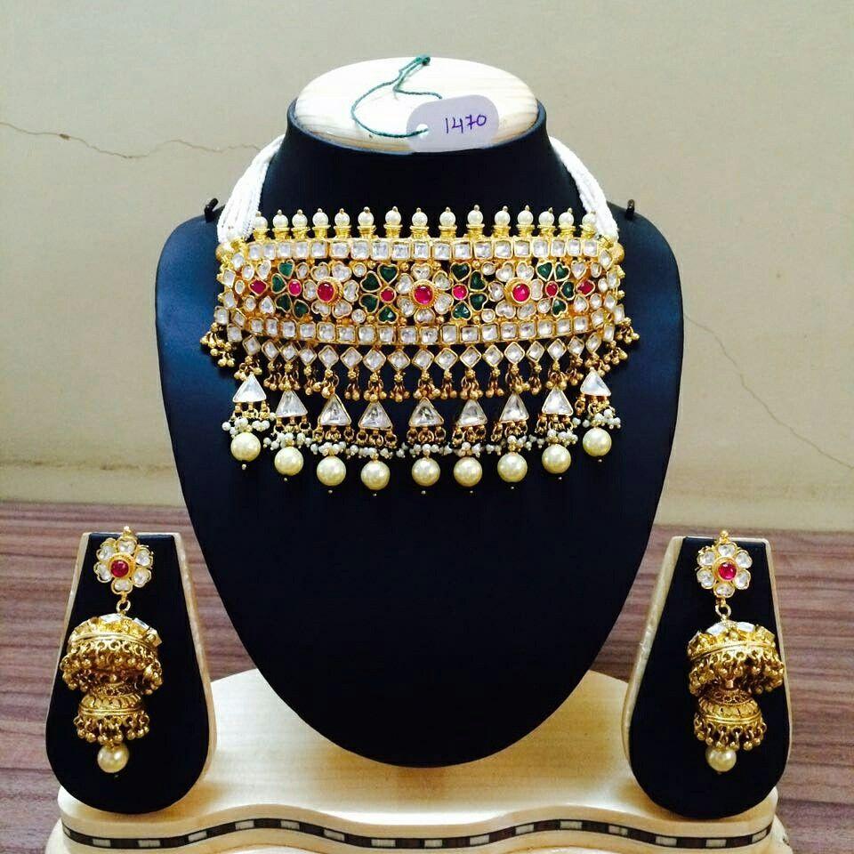 Kundan aad... | Rajput jewelry | Pinterest | Gold jewellery ...