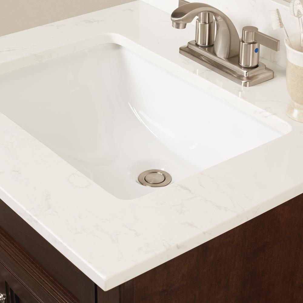 Msi 25 In W Engineered Marble Single Sink Vanity Top In Vanilla
