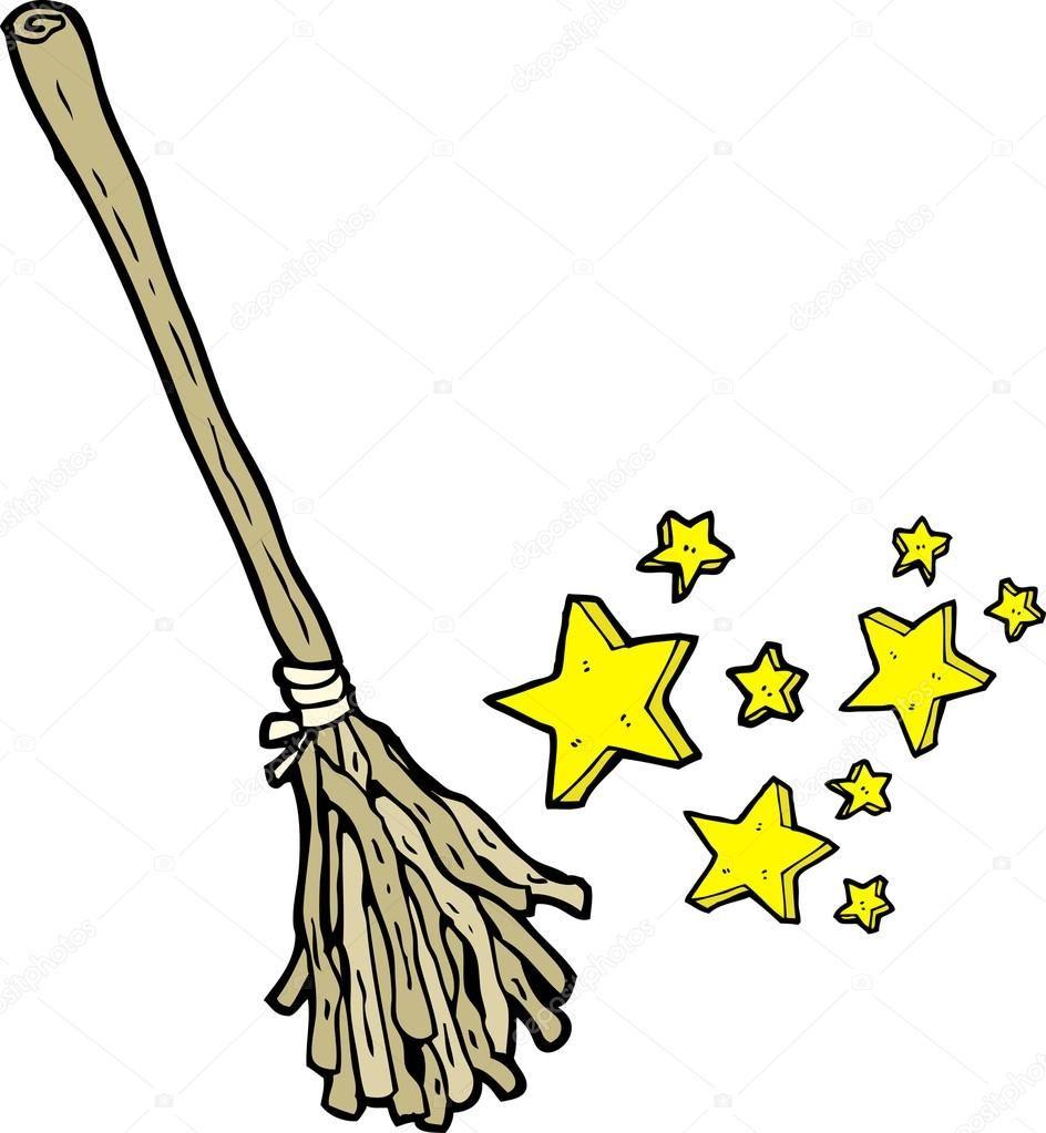 Descargar Dibujos Animados De Escoba De Brujas Magicas Ilustracion De Stock Escoba De Bruja Dibujos Bruja Dibujo