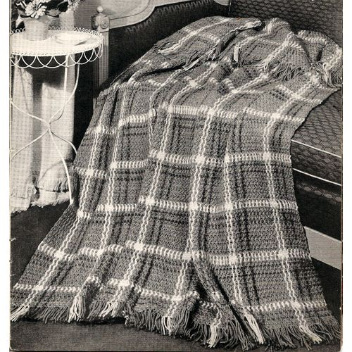 Crochet Afghan Pattern Highlander Plaid Tartan -  Pattern available for purchase