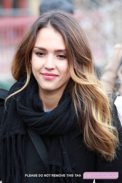 JAlb's perfect ombre highlights. Im thinking about getting ombre