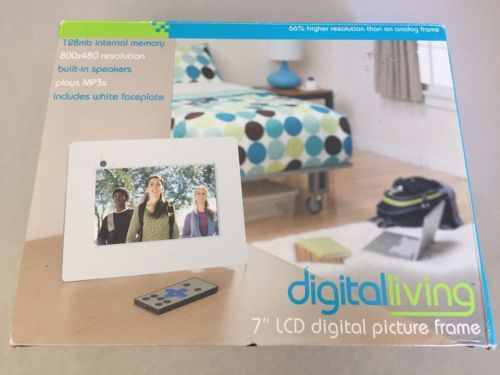 Digital Living 7 Inch Lcd Digital Picture Frame W Remote Ac Adapter