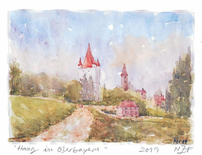Haag in Oberbayern Original signed print