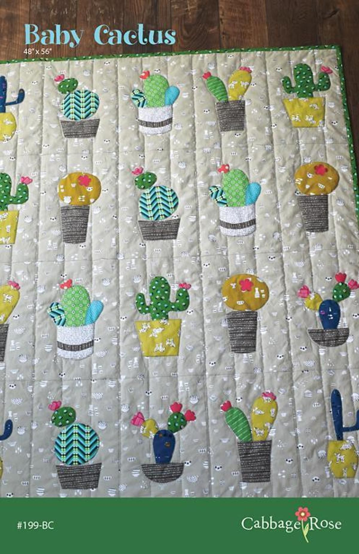 Baby Cactus Quilt Pattern | Pappmaché, Babydecken und Kaktus