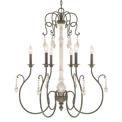 vineyard french country sixlight chandelier