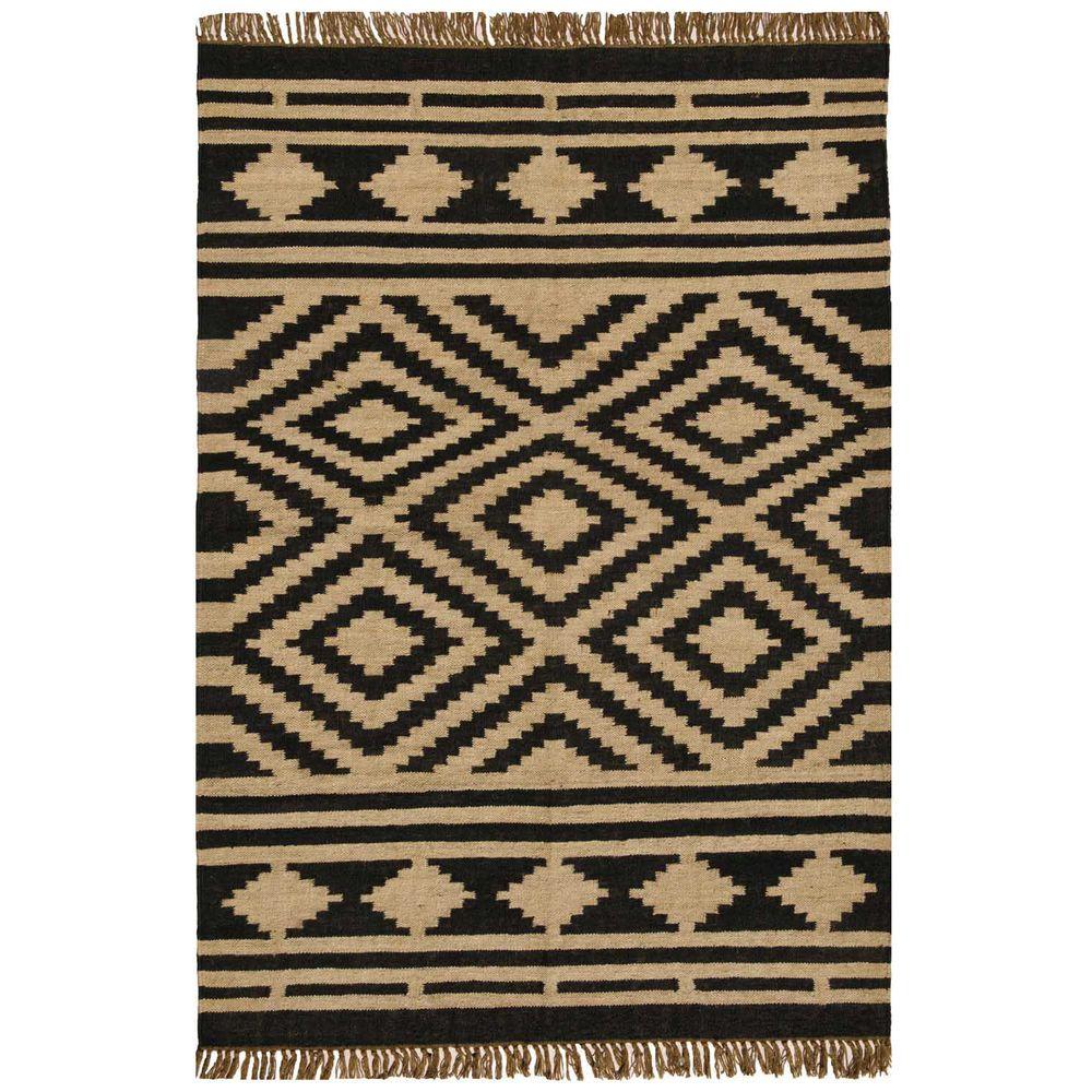 Hand-woven Kilim Beige Wool/ Jute Rug (8' x 11') | Worth ...
