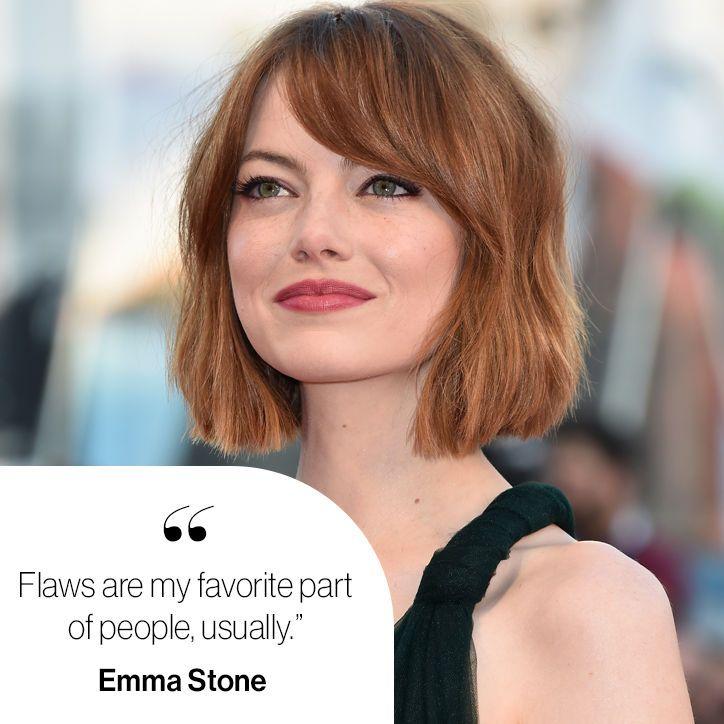Emma Stone on natural beauty.