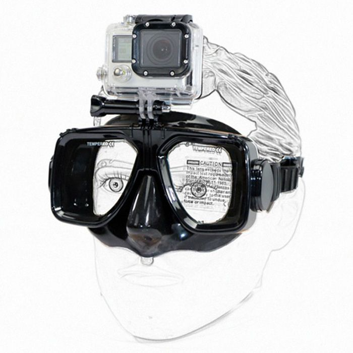 Practical Diving Goggles With Action Camera Mount For Gopro Xiaomi Yi Gopro Scuba Diving Mask Action Camera Mount