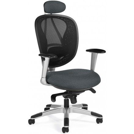 Ergonomic office chair with mesh back Avanti 1946-2 by Global - Sprinkle - Graphite S111- Available at Ugoburo.ca