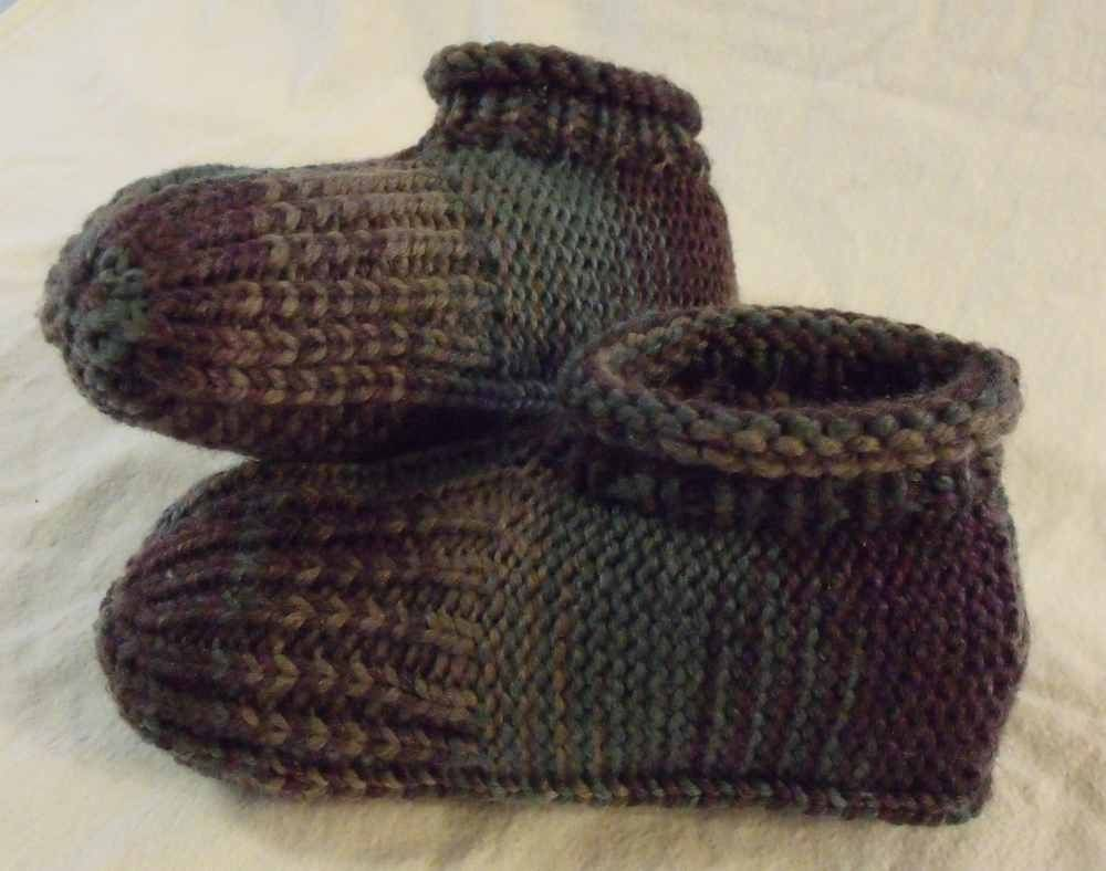 Hand knit slippers just like Granny used to make | Knitting ...