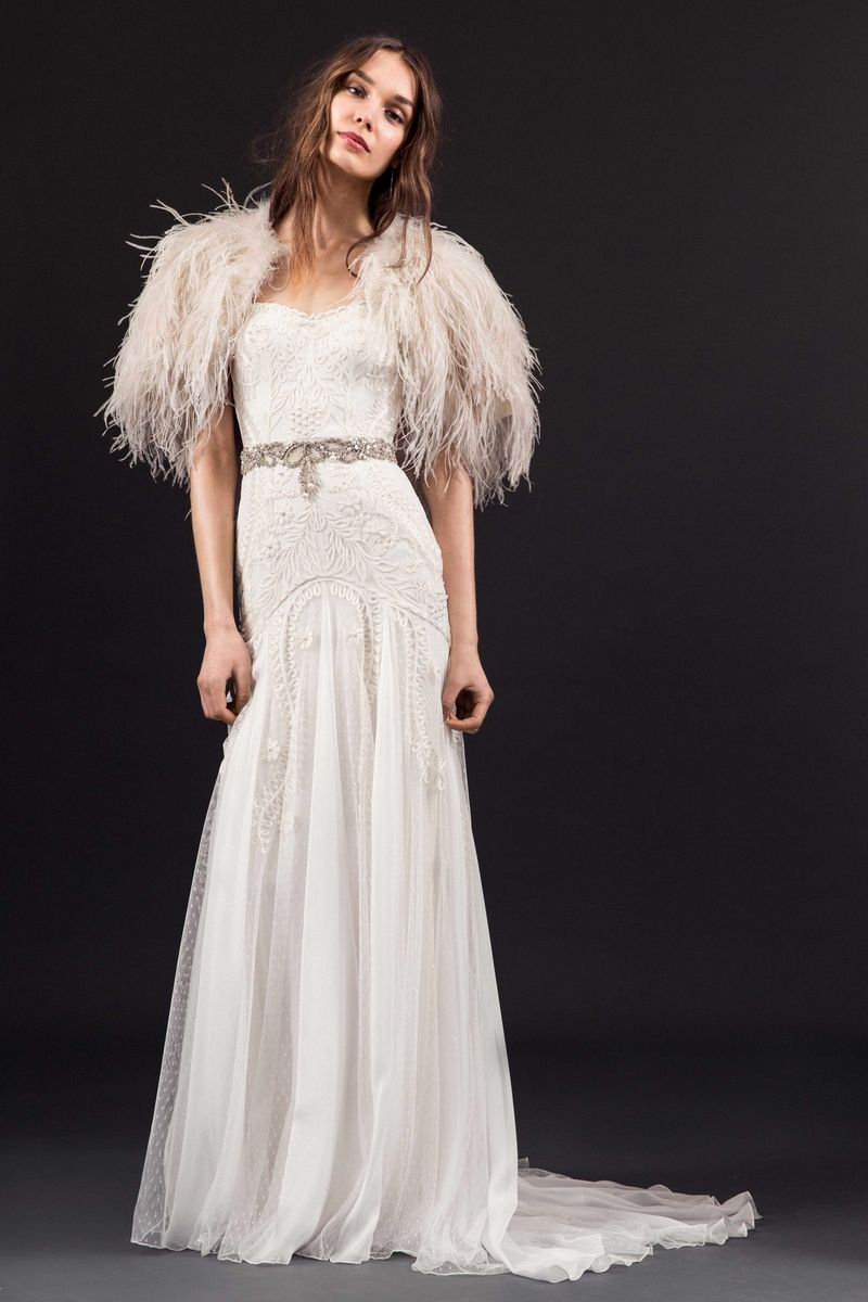 Dropped waist wedding dress  What Wedding Dress Fabrics Are Good in the Summer  Lucie Drop