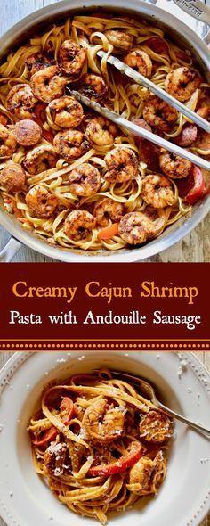Creamy Cajun Shrimp Pasta with Sausage Recipe