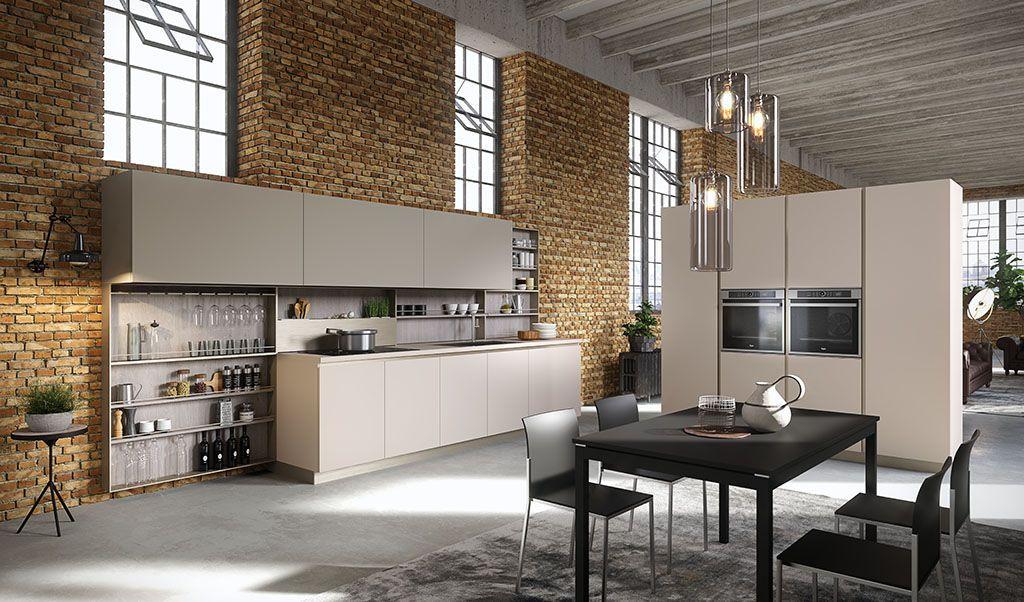 Cuisine contemporaine / en plaqué bois / en bois laqué / avec îlot - Cuisine Moderne Design Avec Ilot