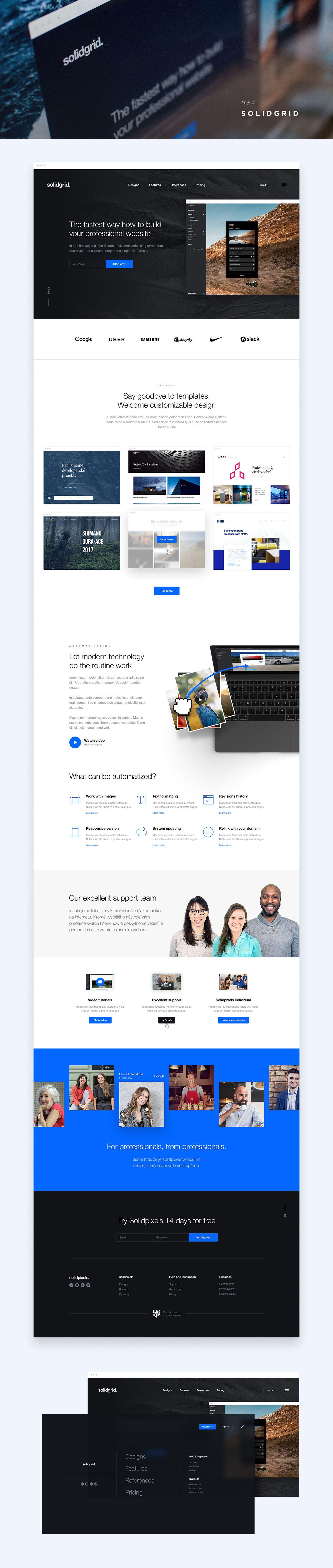 Selected Web Designs 2016 2017 On Behance Business Web Design Dribbble Design Web Design User Experience