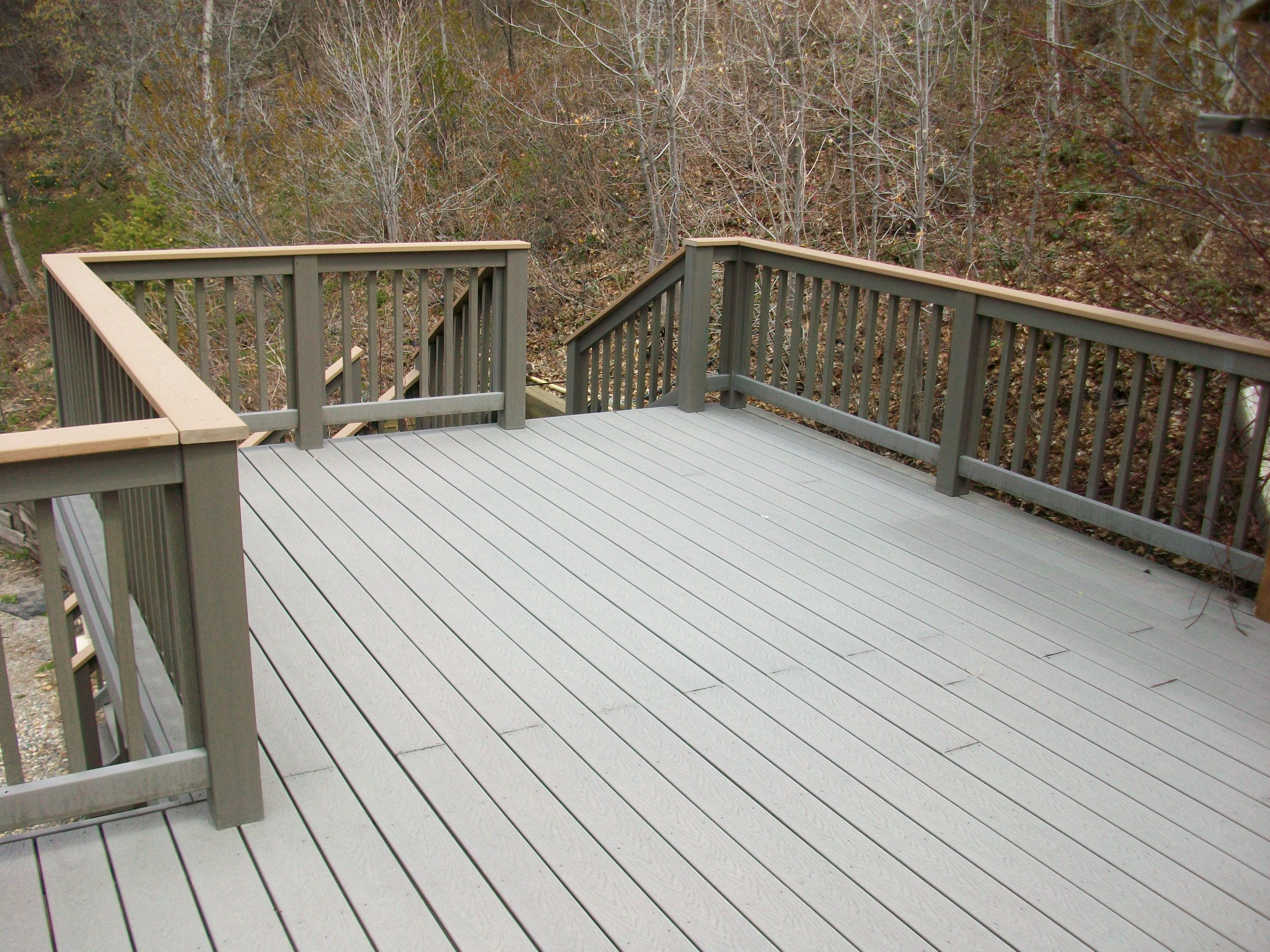 Charming trex decking colors hot in the sun with nice for Composite flooring for decks