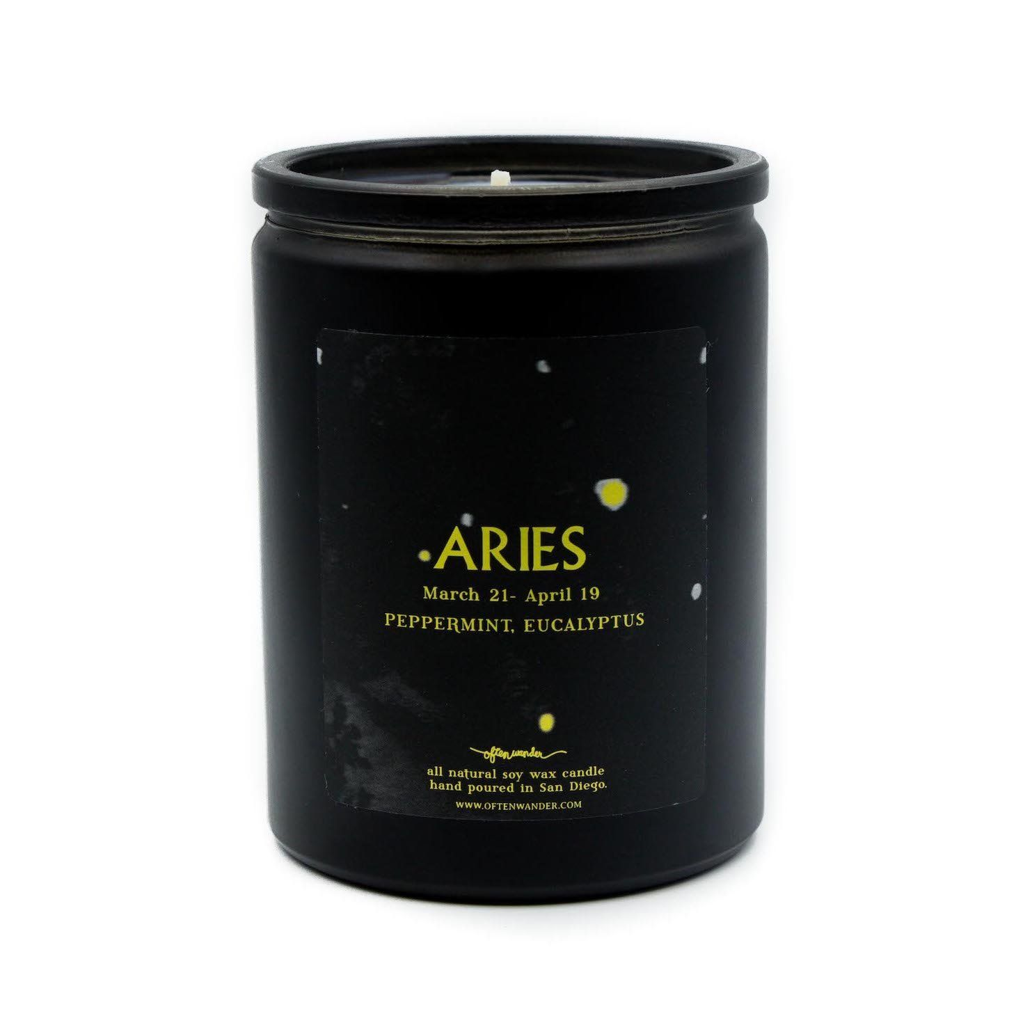 Aries Zodiac Constellation Scented Candle