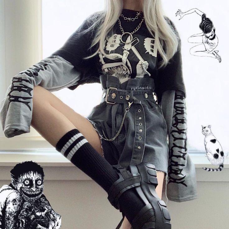 #ComicCartoonPullover #grunge Fashion # KF25035 #Outfitsgrunge #Holiday comic cartoon sweater KF25035