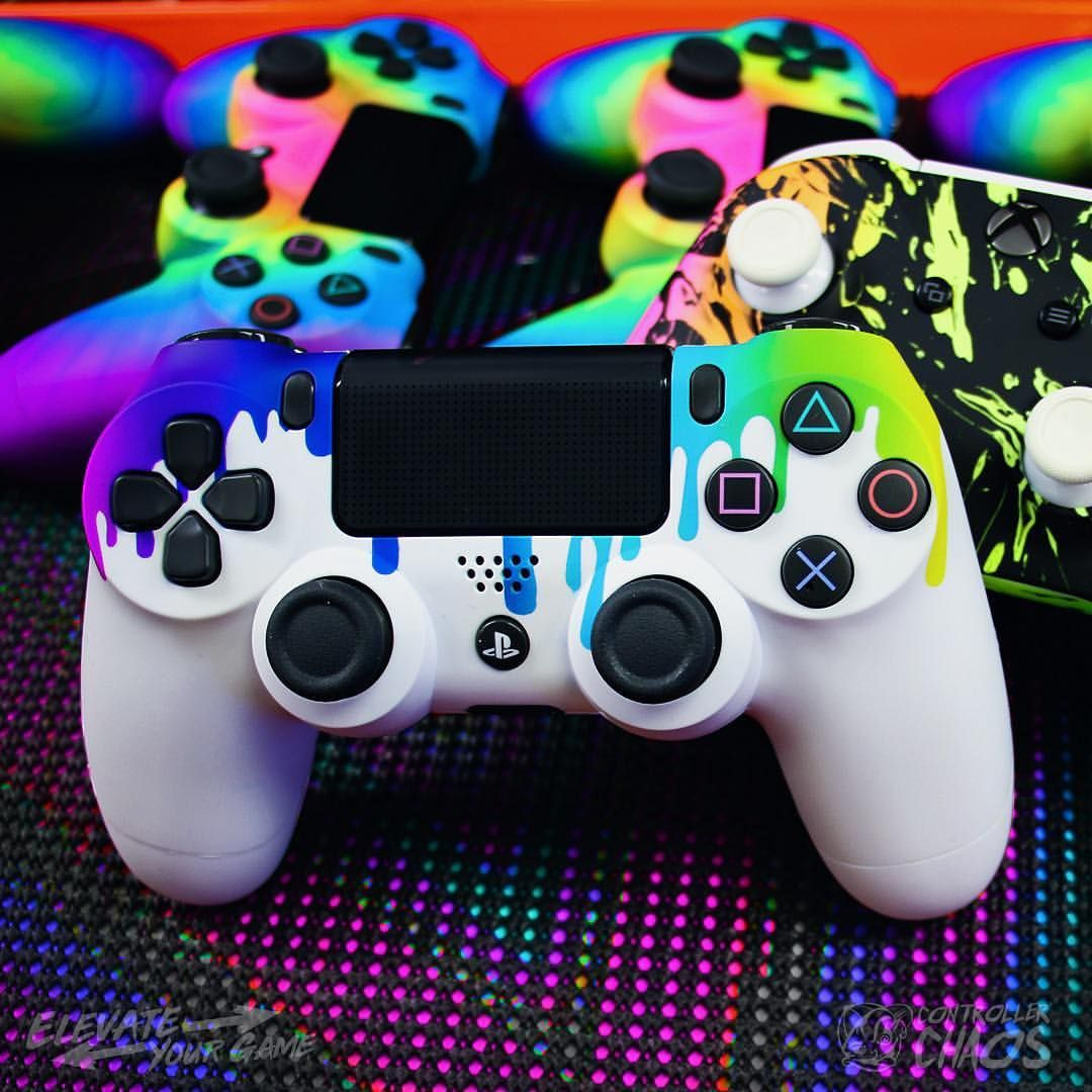 Custom Designs And Custom Options It S Time To Upgrade Elevateyourgame Controllerchaos Ps4 Controller Custom Playstation Controller Game Wallpaper Iphone