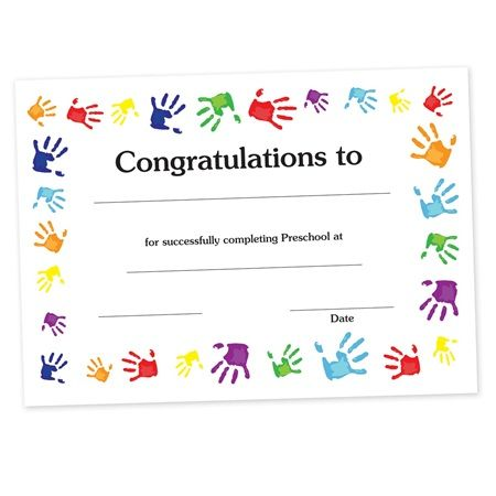 CertificateHandprints  Make A Treasured Keepsake With This Fun And