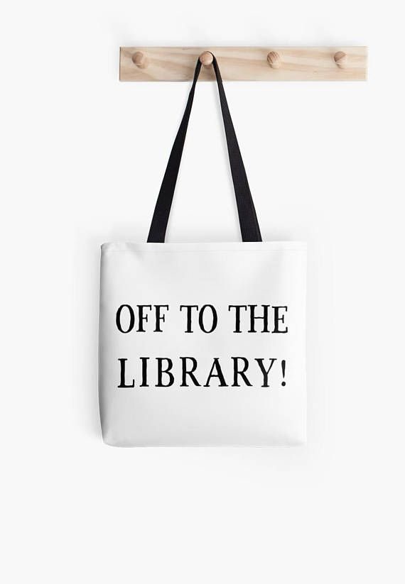 Off to the library Tote Bag 0a0bf54f88ac9