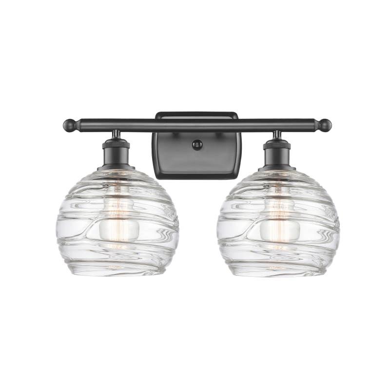 """Photo of Innovationen Beleuchtung 516-2W Deco Swirl Deco Swirl 2 Light 16 """"Breites Badezimmer Vani Öl eingerieben Bronze / Klare Innenbeleuchtung Badezimmerarmaturen Vanity"""