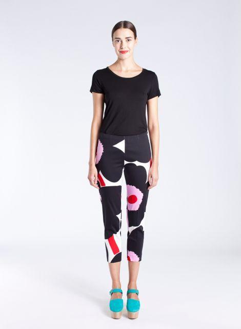 Byxan-housut (valkoinen, musta, pinkki) |Vaatteet, Housut, Naiset | Marimekko