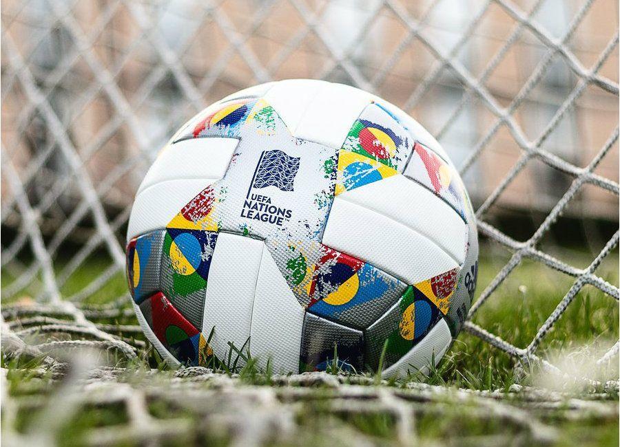 Football Soccer Futbol Nationsleague Adidasfootball Adidas 2018 19 Uefa Nations League Match Ball White Silver Metallic Silver Messi And Ronaldo Ball