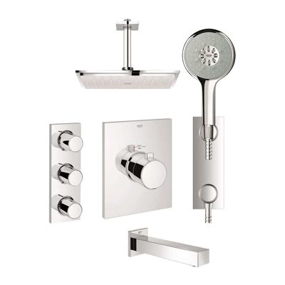 Grohe 123155 GrohTherm F Custom Shower Kit | *Plumbing Fixtures ...